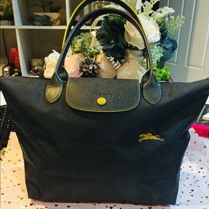 Handbags - Longchamp top handle small Sun Gunmetal tote